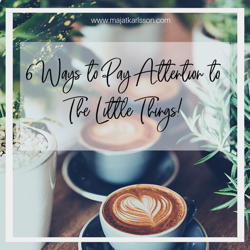 6 Ways to Pay Attention to The Little Things!